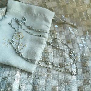 Kendra Scott Rue Long Strand Necklace Silver